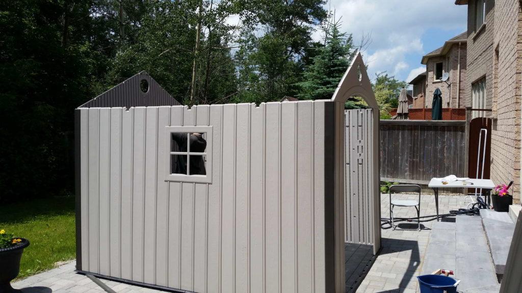 Backyard shed installation Toronto