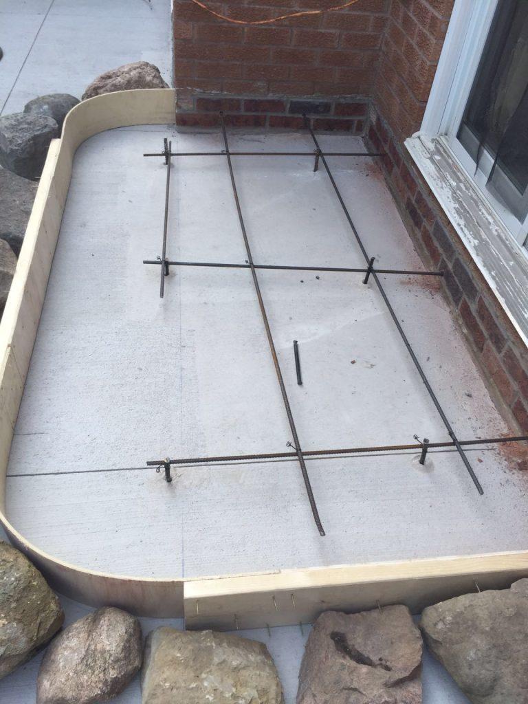 backyard concrete layout - sod installation toronto