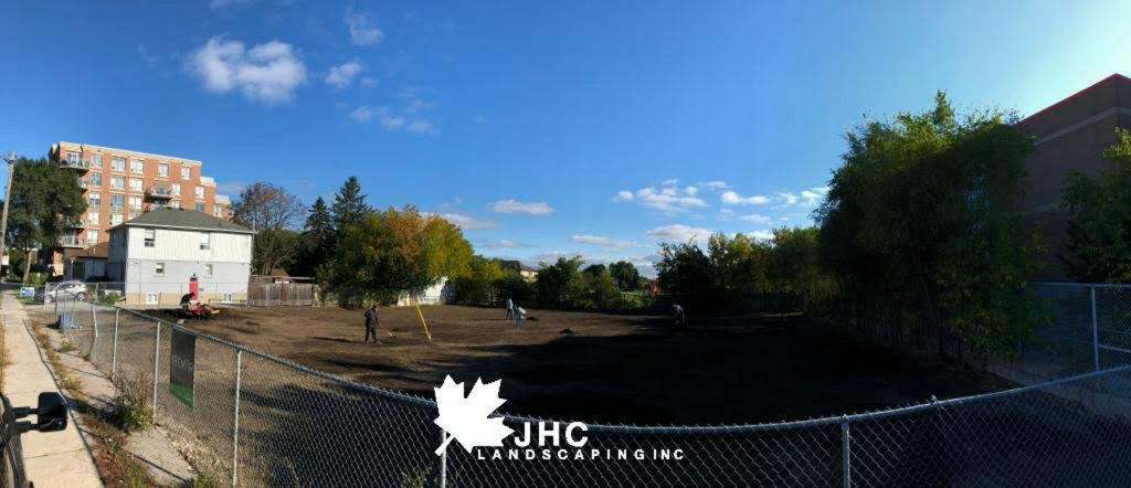 commercial sodding project preparation - llawn care toronto