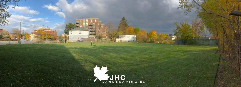 commercial sodding project finished - llawn mowing toronto