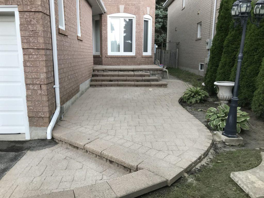 interlock restoration in progress - gta lawn care