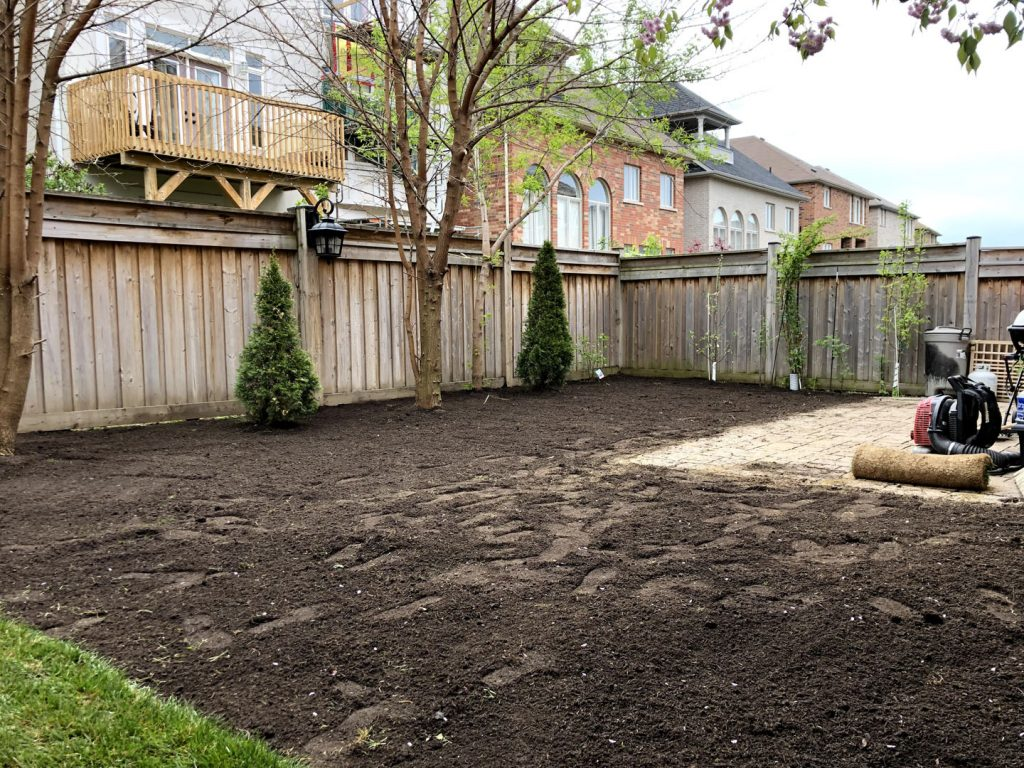 lawn care and replacement in progress -  gta lawn care