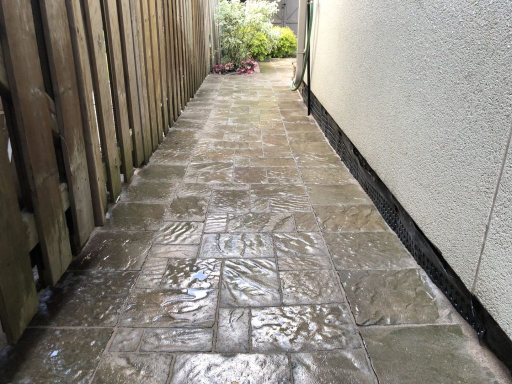 side alley interlocking after - lawn care richmond hill
