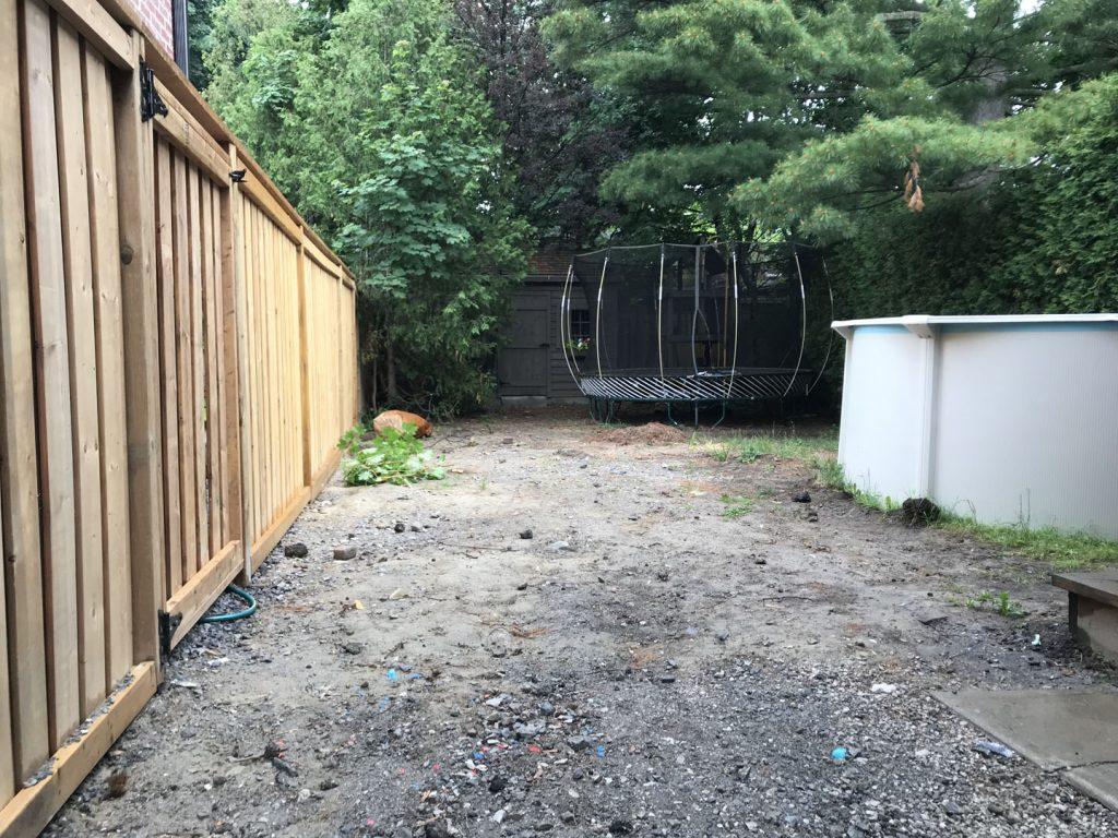 new sodding layout before - asphalt driveway toronto