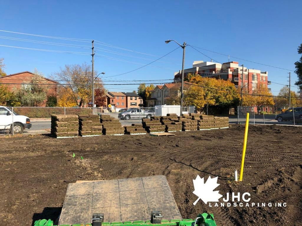 commercial sodding project supply - llawn care toronto ontario