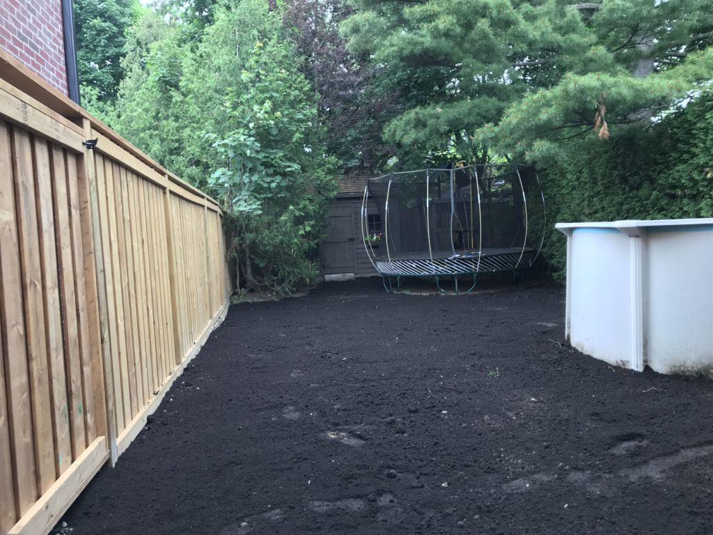 new sodding layout in progress - asphalt sealcoating toronto