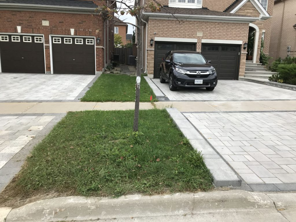 street lawn sodding finished -  snow removal richmond hill