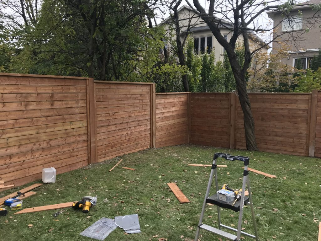 materials preparation for custom fence -   snow removal north york