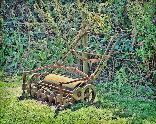 Garden roller is used to help seeds germinate